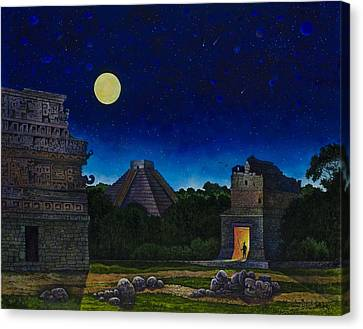 Land Of The Maya Canvas Print by Michael Frank