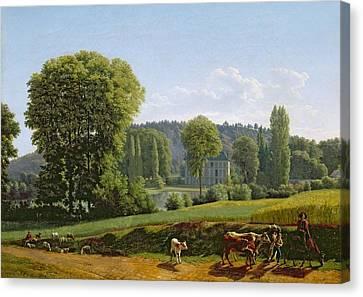 Landscape With Animals Canvas Print by Lancelot Theodore Turpin de Crisse