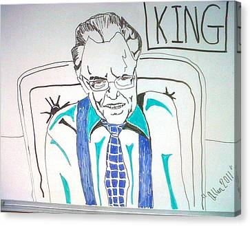 Larry King Canvas Print by Allen Walters