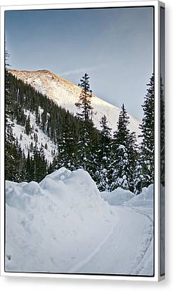 Last Glance At The Mountain Canvas Print by Lisa  Spencer