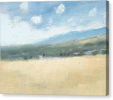 Late Summer Cornfields Canvas Print by Alan Daysh