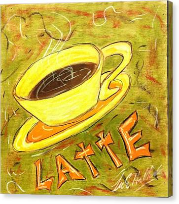 Latte Canvas Print by Lee Halbrook