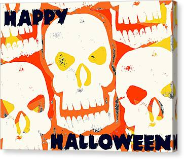 Laughing Skull Canvas Print by Jame Hayes