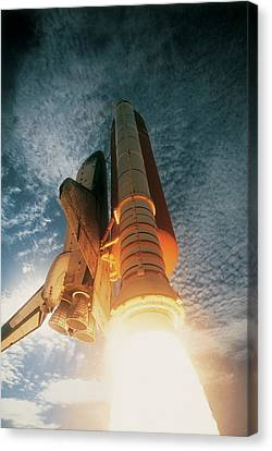 Launching Of The Space Shuttle Canvas Print by Stockbyte