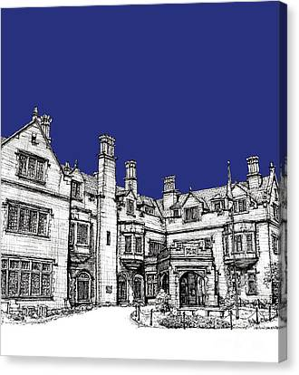 Laurel Hall Royal Blue Canvas Print by Building  Art