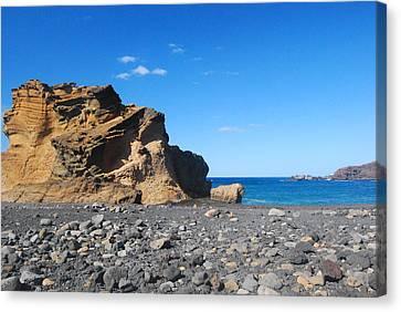 Lava Beaches, Lanzarote Canvas Print by Antonio Camara