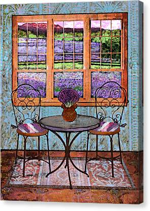 Lavender Bistro Canvas Print by Mary Ogle