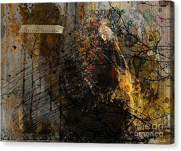 Layered Realities Abstract Composition Painting Print Canvas Print by Svetlana Novikova