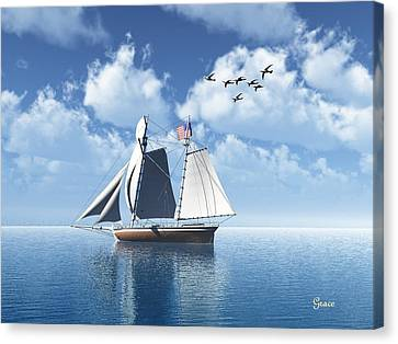 Lazy Day Sail Canvas Print by Julie Grace