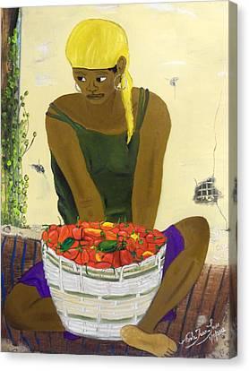 Le Piment Rouge D' Haiti Canvas Print by Nicole Jean-Louis