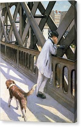 Le Pont De L'europe Canvas Print by Gustave Caillebotte
