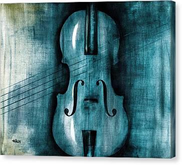 Le Violon Bleu Canvas Print by Hakon Soreide