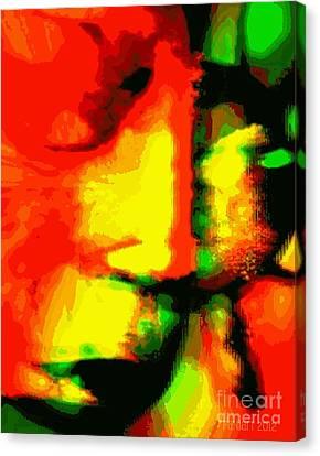 Leave Me ....but... I Love You - He Said Canvas Print by Fania Simon