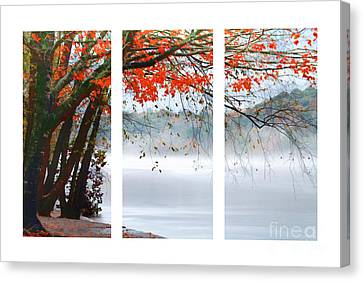 Leaves Of Red Canvas Print by Darren Fisher