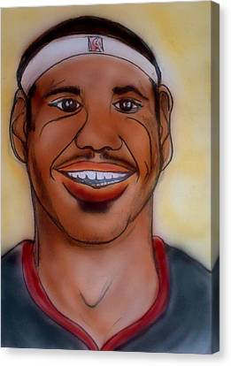 Lebron James Canvas Print by Pete Maier