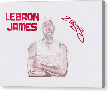 Lebron James Canvas Print by Toni Jaso