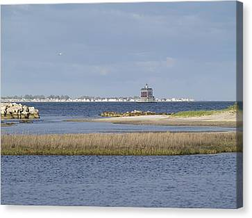 Ledge Lighthouse Canvas Print by Patricia McKay