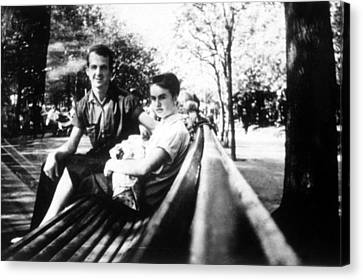 Lee & Marina Oswald, Daughter June Canvas Print by Everett