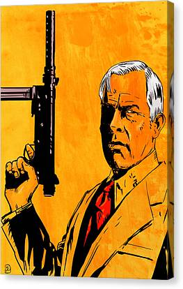 Lee Marvin Canvas Print by Giuseppe Cristiano