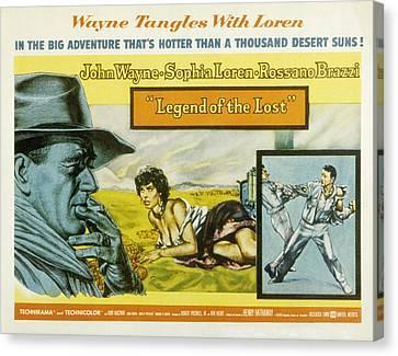Legend Of The Lost, John Wayne, Sophia Canvas Print by Everett