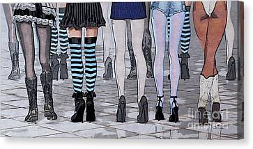 Legs Canvas Print by Jutta Maria Pusl