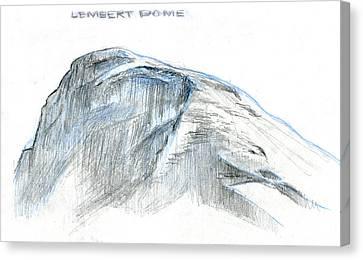 Lembert Dome At Noon Canvas Print by Logan Parsons