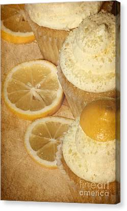 Lemon Cupcakes Canvas Print by Sophie Vigneault