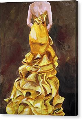 Lemon Twist Canvas Print by Jennifer Koach