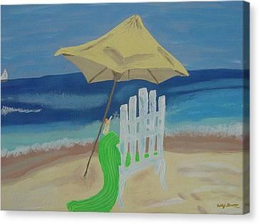 Lemonade On The Beach Canvas Print by Bobbi Groves