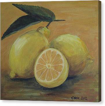 Lemons Canvas Print by Ema Dolinar Lovsin