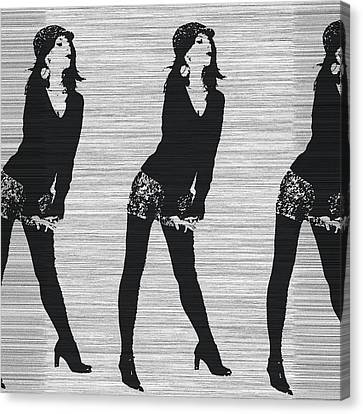 Lena In Dark Canvas Print by Naxart Studio