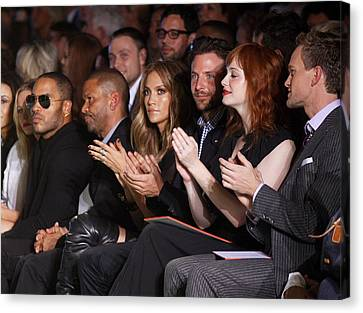 Lenny Kravitz, Jennifer Lopez, Bradley Canvas Print by Everett