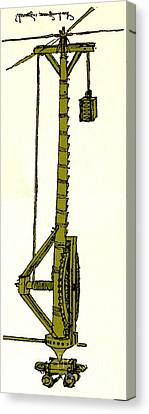 Leonardo Da Vincis Lifting Gear Canvas Print by Science Source