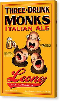 Leone Three Drunk Monks Canvas Print by John OBrien