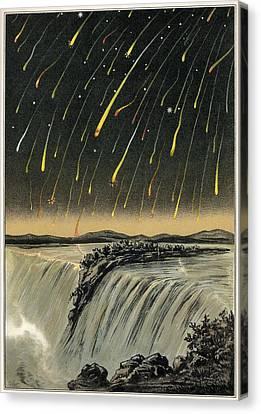 Leonid Meteor Shower Of 1833, Artwork Canvas Print by Detlev Van Ravenswaay