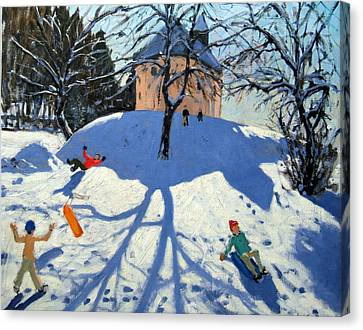 Les Gets Canvas Print by Andrew Macara