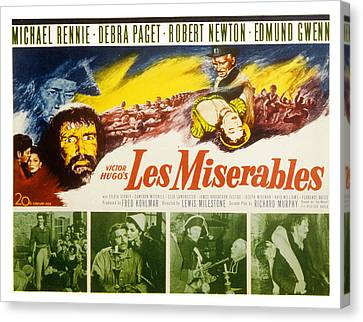 Les Miserables, Michael Rennie, Debra Canvas Print by Everett