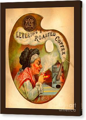 Levering's Roasted Coffee Canvas Print by Anne Kitzman