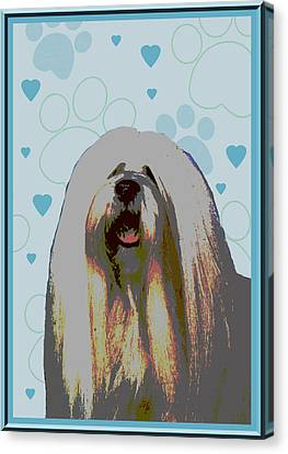 Lhasa Apso Canvas Print by One Rude Dawg Orcutt