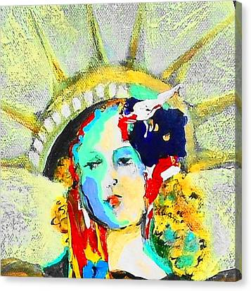 Liberty Canvas Print by Claire Sallenger Martin