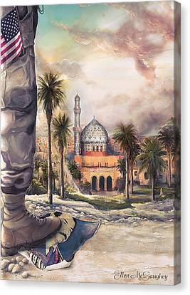 Liberty Canvas Print by Ellen Mcgaughey