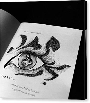 Libro Di Artista Canvas Print by Arte Venezia