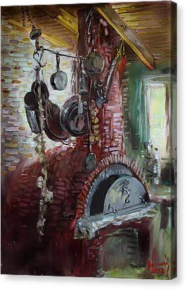 Greek Furno  Canvas Print by Ylli Haruni