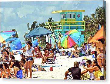 Life Is A Beach Canvas Print by Dieter  Lesche