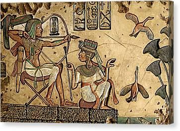 Life On The Nile II Canvas Print by Greg Coffelt