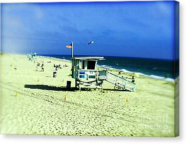 Lifeguard Shack Canvas Print by Scott Pellegrin