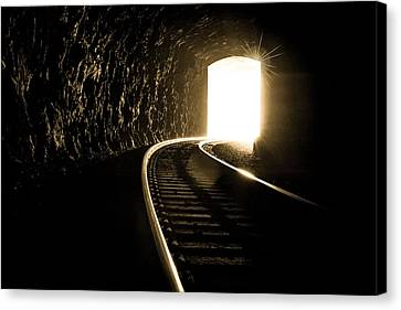 Light At The End Of The Tunnel Canvas Print by Joye Ardyn Durham
