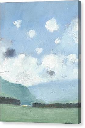 Light Blue Morning Canvas Print by Alan Daysh