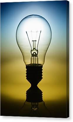 Light Bulb Canvas Print by Setsiri Silapasuwanchai