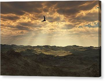 Light In The Valley Canvas Print by Julie Grace